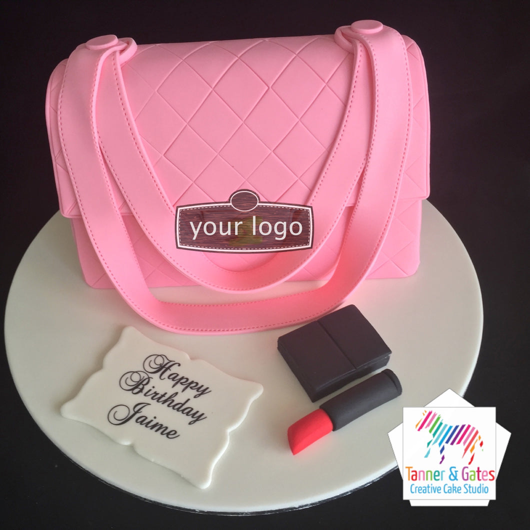 Chanel Bag (Pink) Birthday Cake