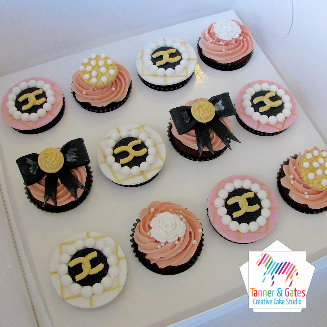 Chanel Deluxe Cupcakes