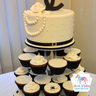 Chanel Cake Topper + Cupcakes