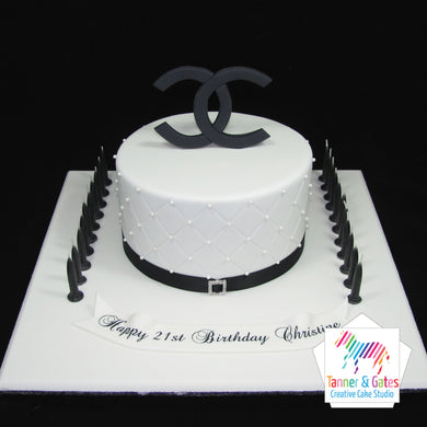 Chanel Logo Birthday Cake
