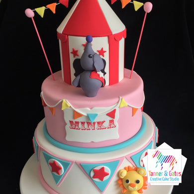 Tiered Circus Cake