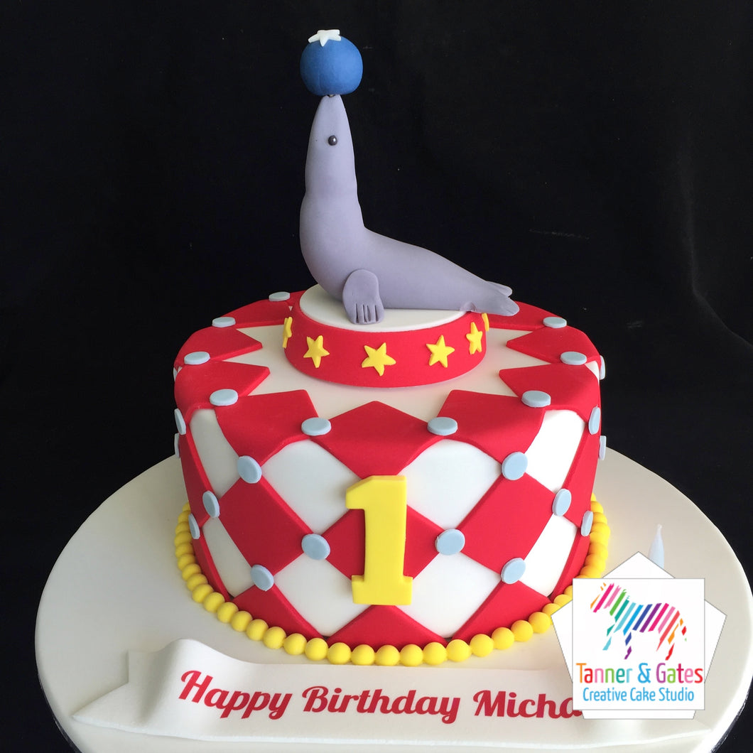 Circus Sea-lion Birthday Cake