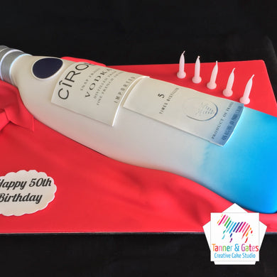 3D CIROC Vodka Bottle Cake