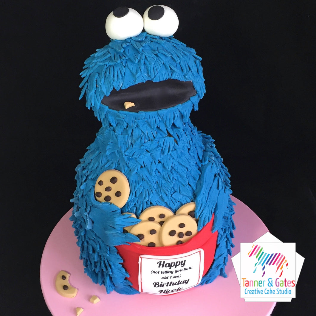 Cookie Monster 3D Cake