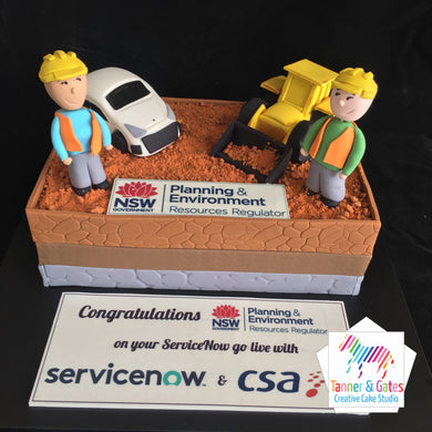 Corporate Construction Cake - Sydney