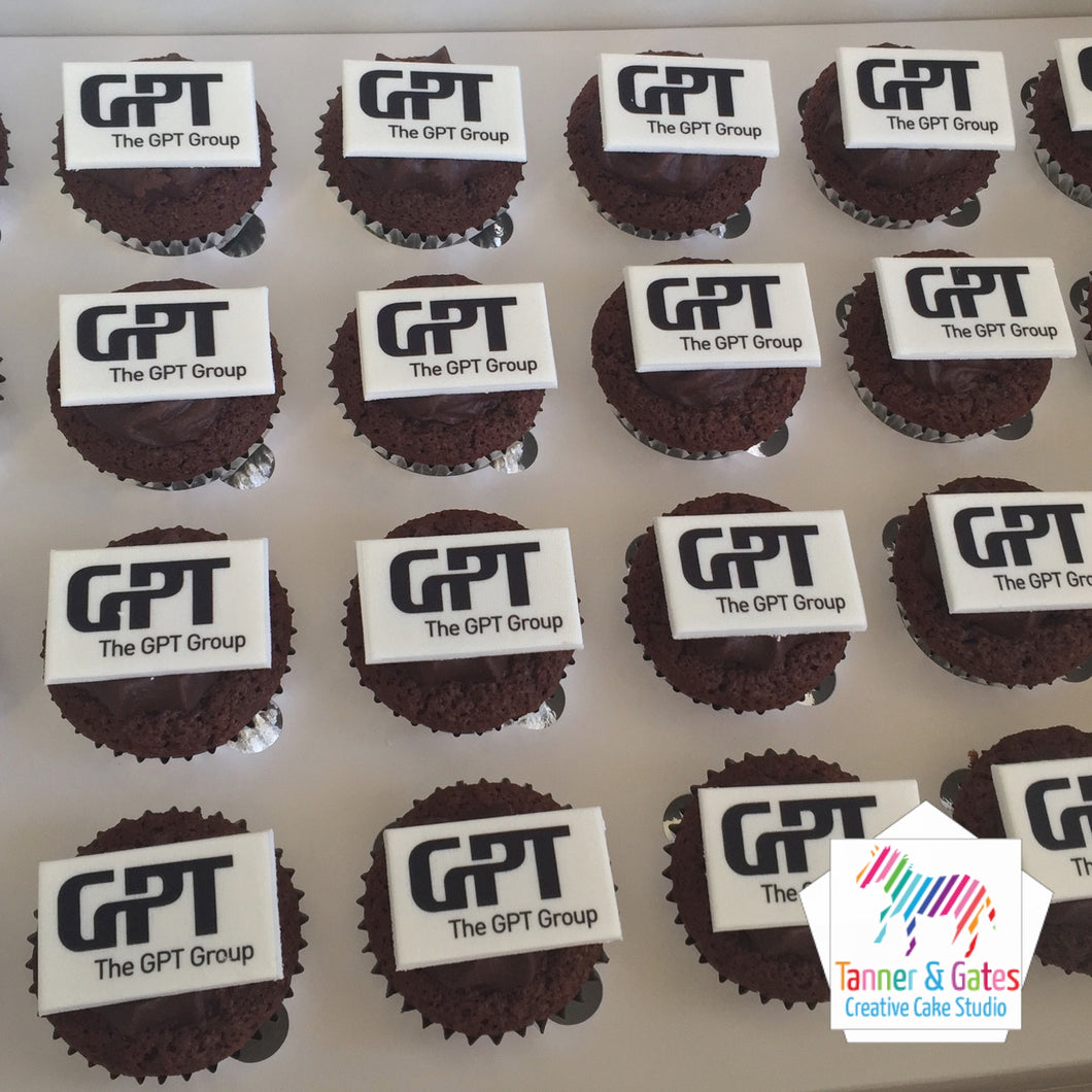 Corporate Logo Cupcakes - Mini