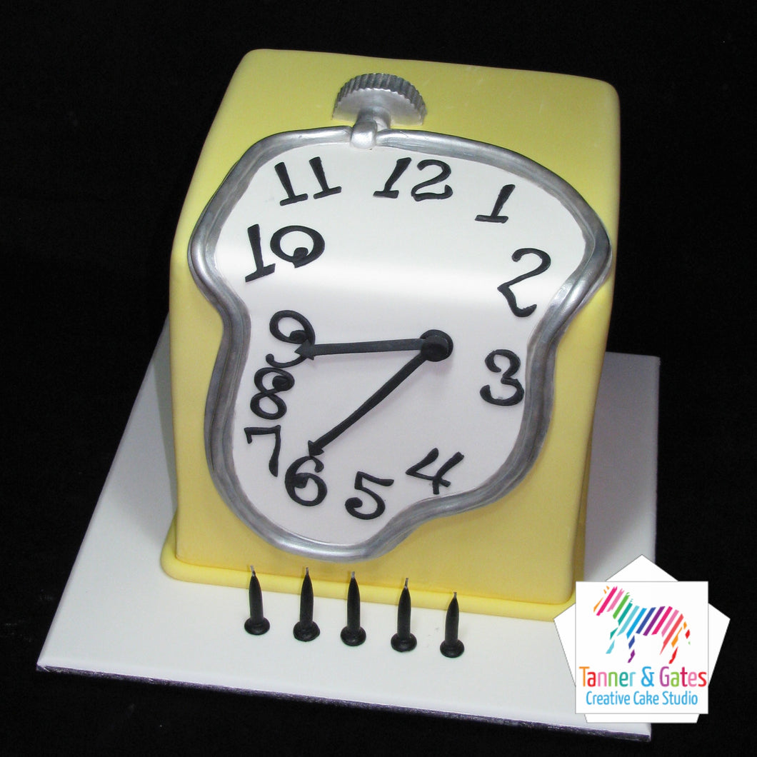 Dali Melting Clock Cake