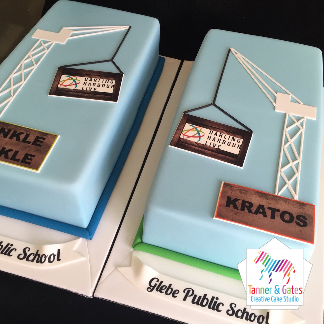 2D Graphic Corporate Cake
