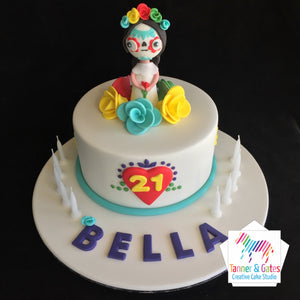 Day of the Dead 21st Birthday Cake