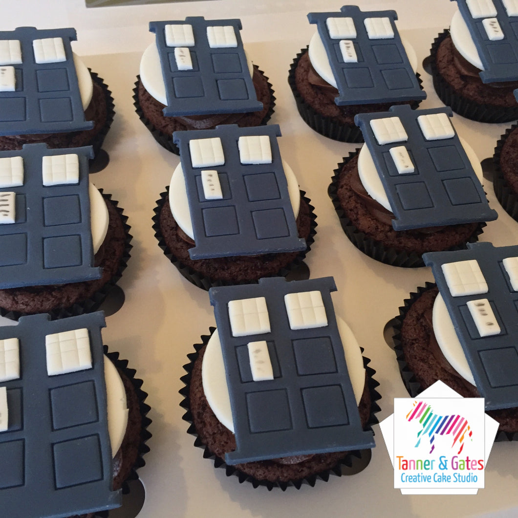 Doctor Who Tardis Cupcakes