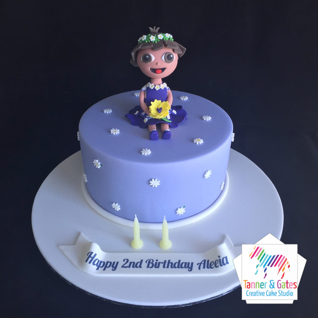 Strange Dora The Explorer Birthday Cake Tanner Gates Funny Birthday Cards Online Alyptdamsfinfo