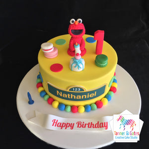 Elmo's 1st Birthday Cake