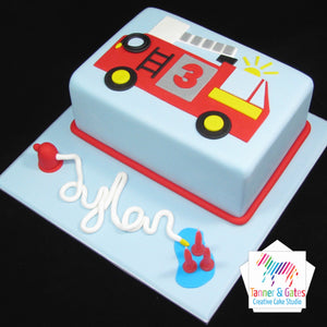 Fire Truck Birthday Cake