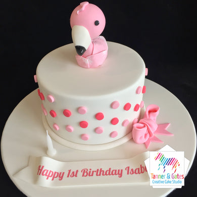 Flamingo 1st Birthday Cake