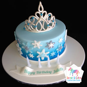 Disney Frozen Cake - Princess Crown Cake