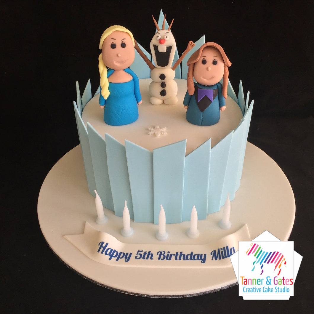 Disney Frozen Cake - Elsa and Anna Palace Cake