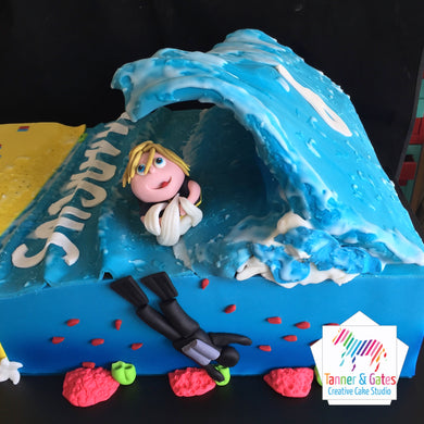 Wave - Body Boarder Cake