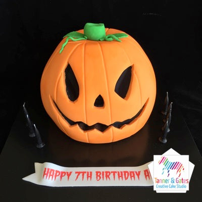 Halloween Pumpkin Birthday Cake