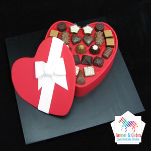Heart Box of Chocolates Cake