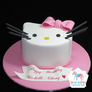 Hello Kitty Birthday Cake (2D Head)