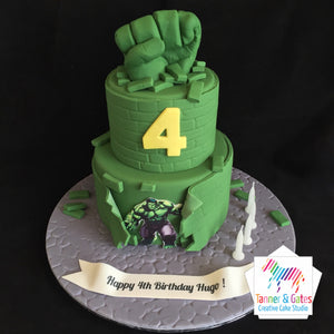 Hulk Birthday Cake