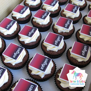 Corporate Logo Cupcakes - Square