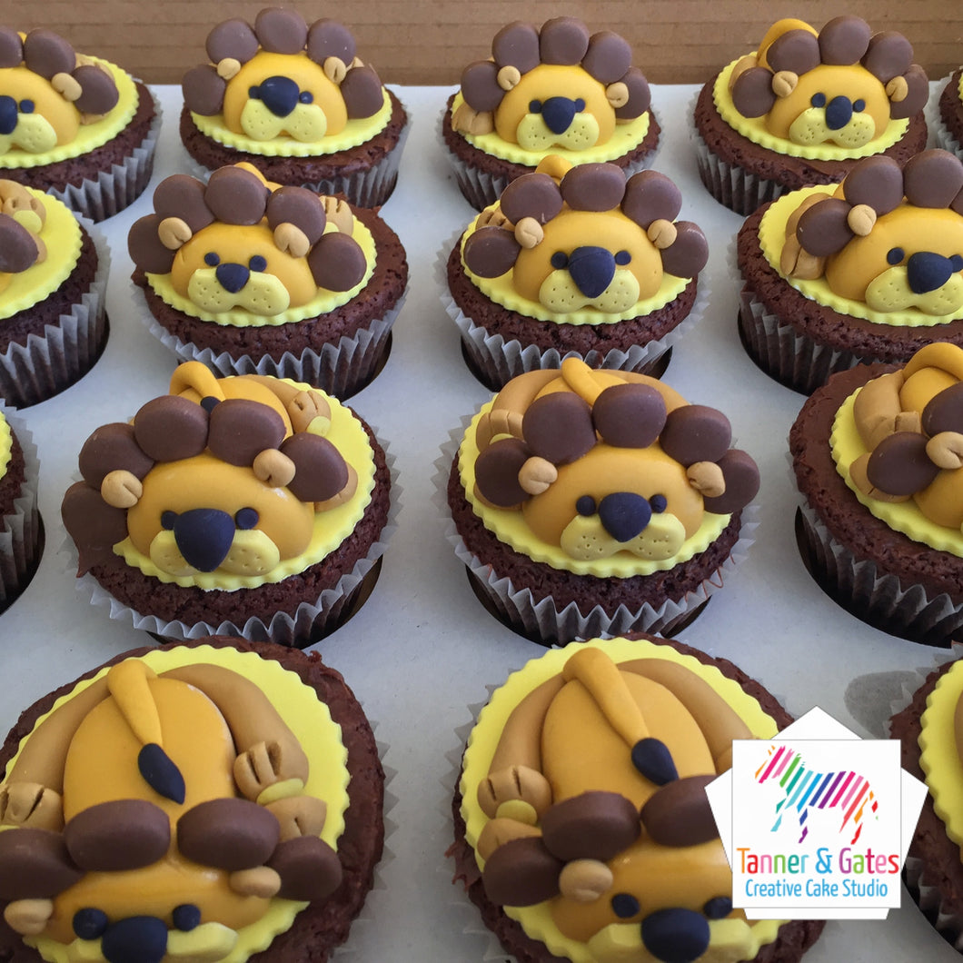 Sleeping Lion Cupcakes