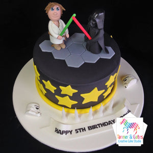 Star Wars Cake - Luke vs Darth Vader