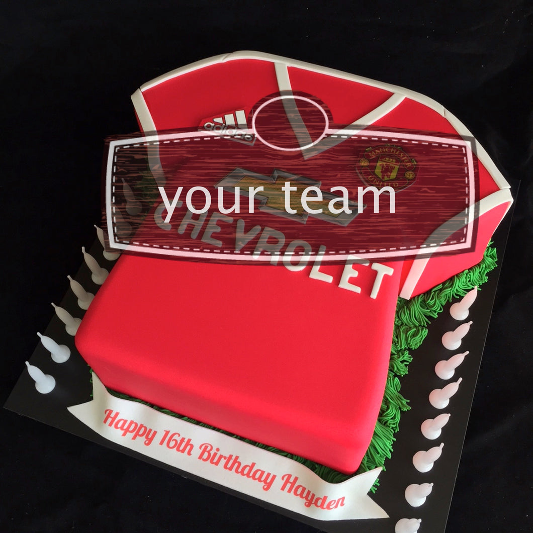 Man United Football Jersey Cake Tanner Gates