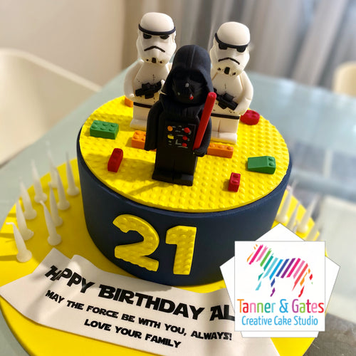Star Wars Lego Cake - enhanced