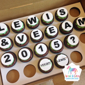 Corporate Logo Cupcakes - Round (message)