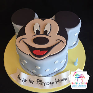 Mickey Mouse 2D Cake - Polka Dots