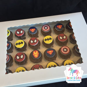Superhero Cupcakes - Mini