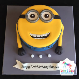 Incredible Minions 2D Birthday Cake Tanner Gates Funny Birthday Cards Online Inifofree Goldxyz