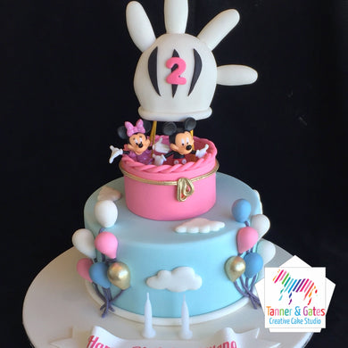 Disney Balloon Cake - Minne & Mickey