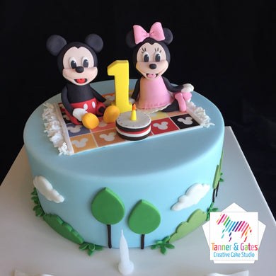 Mickey & Minnie 1st Birthday Cake