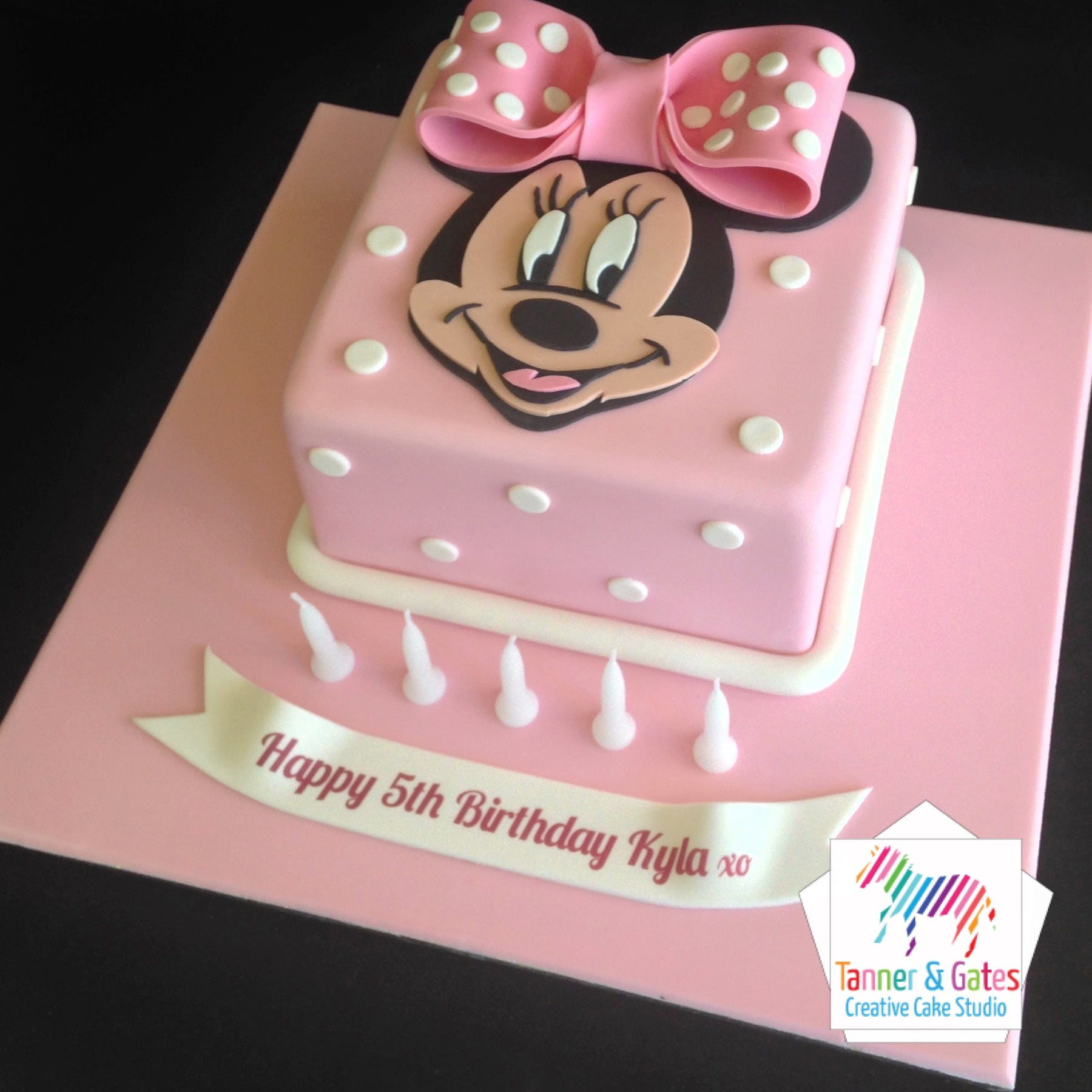Astounding Minnie Mouse Birthday Cake Tanner Gates Funny Birthday Cards Online Overcheapnameinfo
