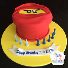 Lego Ninjago Face Birthday Cake