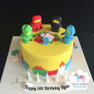 Ninjago Fireside Birthday Cake