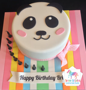 Panda 2D Head Birthday Cake