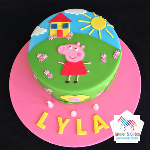 Peppa Pig Cake - 2D Cut-out Cake (Pink)