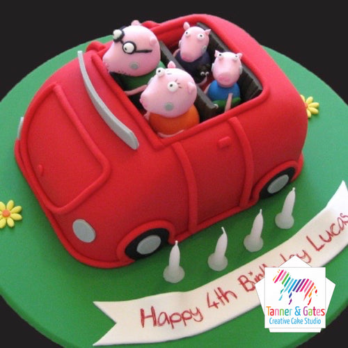 Peppa Pig Cake - Family Car