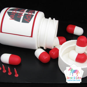 Pill Bottle Cake