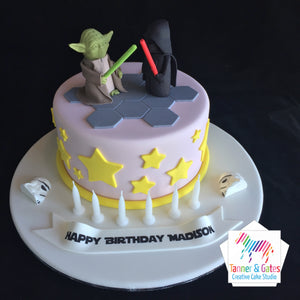 Star Wars Cake - Yoda vs Darth Vader