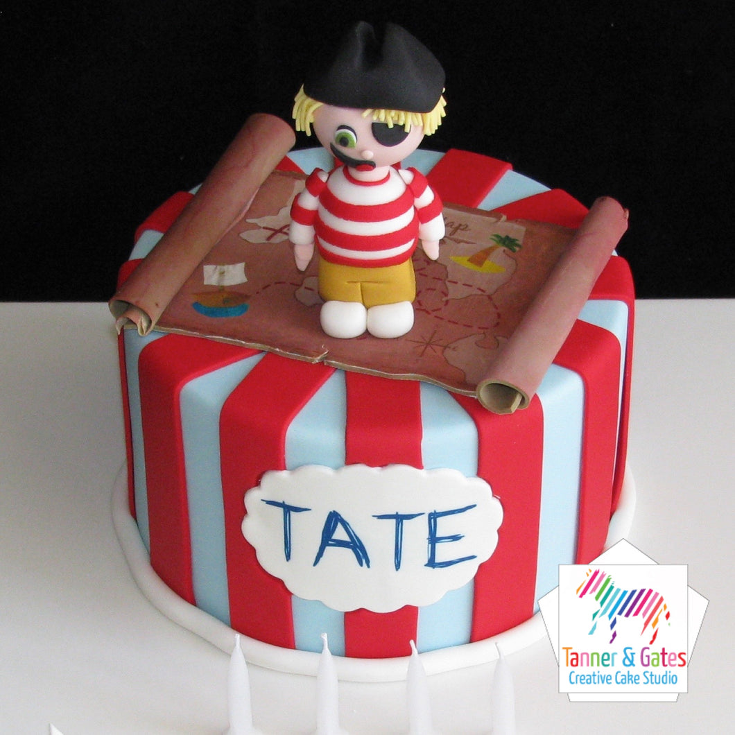 Pirate Birthday Cake (Boy)