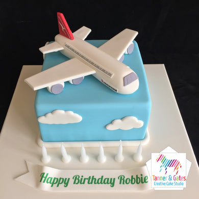 Airline Plane Cake