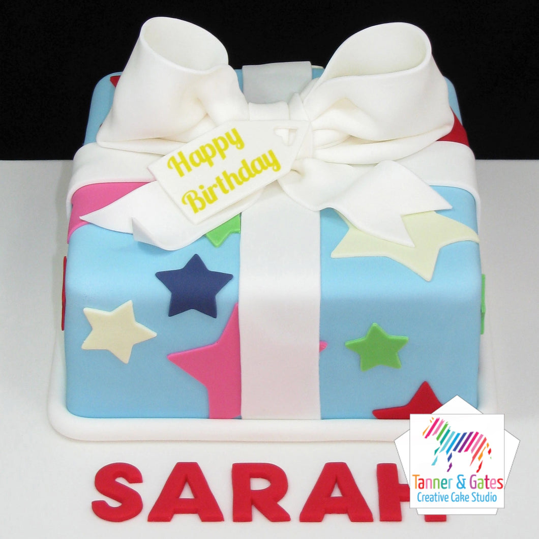 Big Bow Gift Box Cake