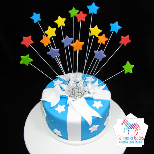 Shooting Stars Birthday Cake (Round)