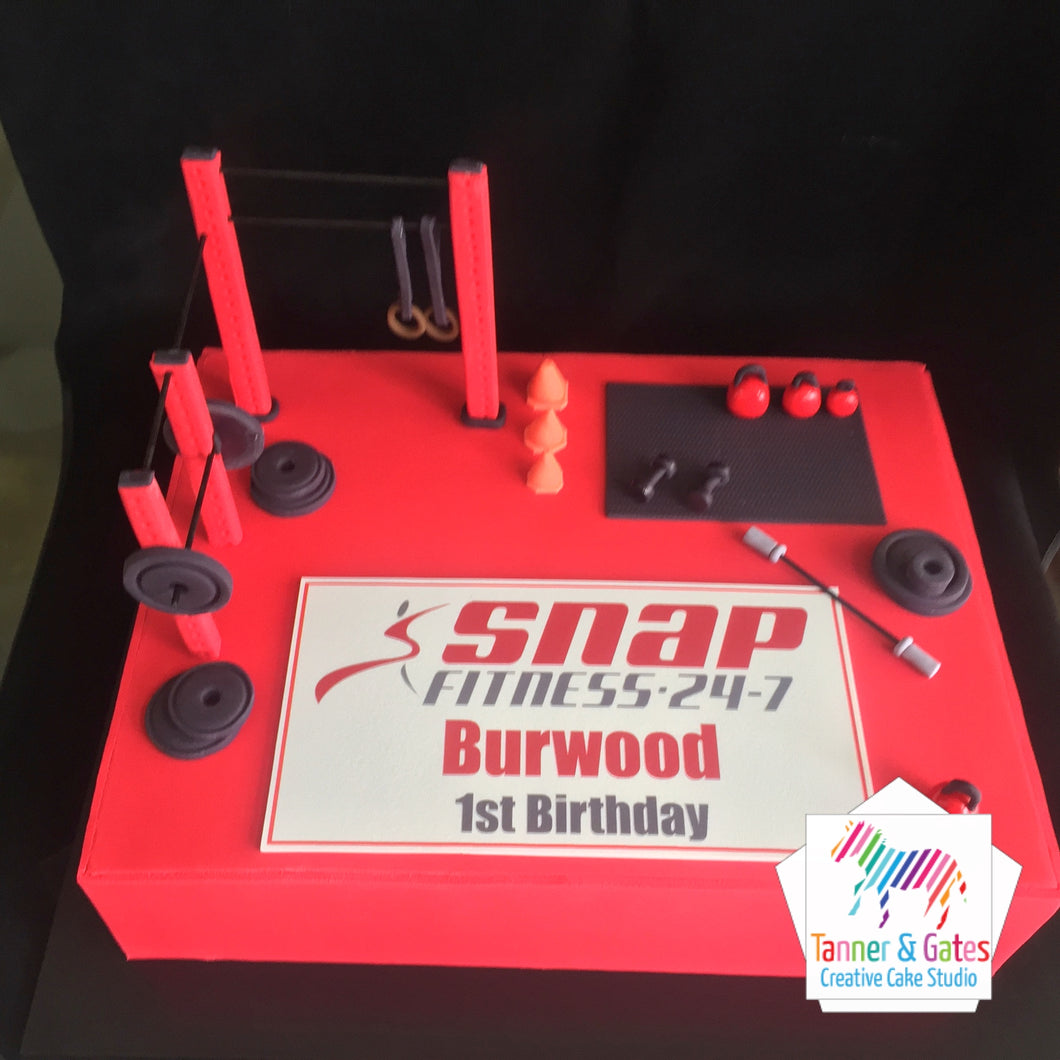 Snap Fitness Corporate Cake