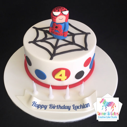 Baby Spiderman Birthday Cake